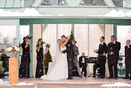 Feature Wedding – Combining two continents on a gorgeous snowy day.